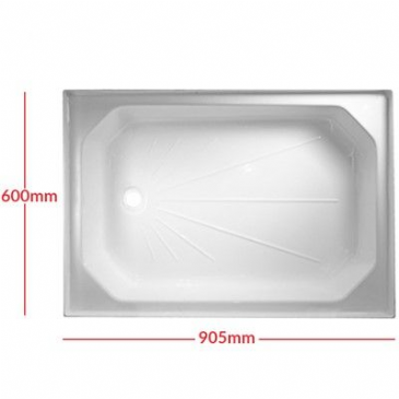 "Caravan/Motorhome PLASTIC SHOWER TRAY 24"" X 36"" WHITE"